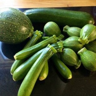 Selection of courgettes for our healthy quiche dinner tonight