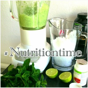 Summer Drinks - Fresh lime, crushed ice and mint herbal beverage