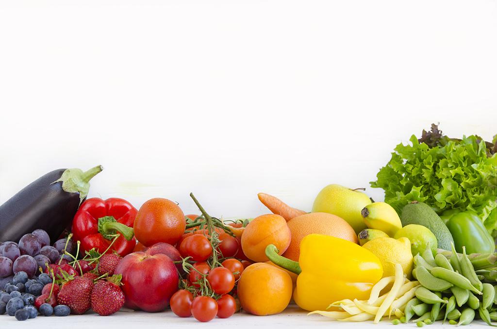 warzywa i owoce w kolorach tczy